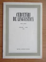 Anticariat: Cercetari de lingvistica, anul XXXVII, nr. 1, ianuarie-iunie 1992