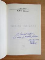 Ioan Roman - Iubiri exilate (cu autograful autorului)