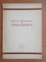 Anticariat: Revue Roumaine de linguistique, tome XXVI, nr. 4