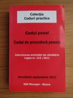 Anticariat: Codul penal. Codul de procedura penala