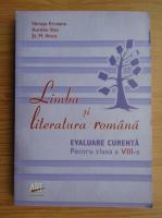 Ninusa Erceanu - Limba si literatura romana. Evaluare curenta pentru clasa a VIII-a