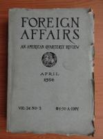 Anticariat: Revista Foreign Affairs, volumul 34, nr. 3,  aprilie 1956