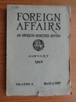 Anticariat: Revista Foreign Affairs, volumul 43, nr. 2,  ianuarie 1965