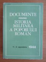 Anticariat: Al. Gh. Savu - Documente privind istoria militara a poporului roman, 4-6 septembrie 1944