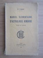 Anticariat: B. V. Raman - Manuel elementaire d'astrologie hindoue (1940)