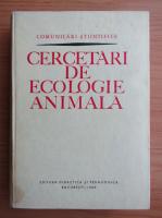 Cercetari de ecologie animala