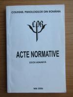 Anticariat: Colegiul Psihologilor din Romania. Acte normative