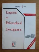 Anticariat: Linguistic and philosophical investigations (volumul 7)