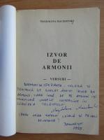 Anticariat: Magdalena Macedonski - Izvor de armonii (cu autograful autorului)