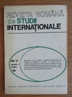 Anticariat: Revista Romana de Studii Internationale, anul XX, septembrie-octombrie 1986