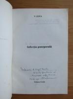 Anticariat: Vasile Luca - Infectia puerperala (cu autograful autorului)