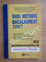 Anticariat: Ghid metodic. Bacalaureat 2007. M2, matematica. Enunturi finale