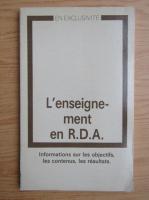 L'enseignement en R.D.A.