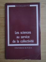 Les sciences au service de la collectivite