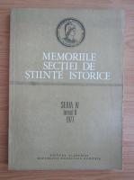 Memoriile sectiei de stiinte istorice, seria IV, tomul II, 1977