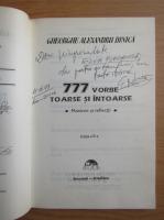 Anticariat: Gh. Alex. Dinica - Vorbe toarse si intoarse (cu autograful autorului)