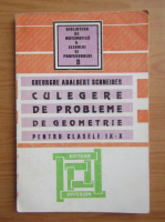 Gheorghe Adalbert Schneider - Culegere de probleme de geometrie pentru clasele IX-X