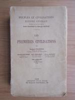 Anticariat: Gustave Fougeres - Les premieres civilisations (1926)