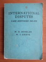 Anticariat: M. D. Donelan - International disputes