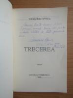 Anticariat: Niculina Oprea - Trecerea (cu autograful autorului)