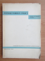 Anticariat: Finnish foreign policy. Studies in foreign politics
