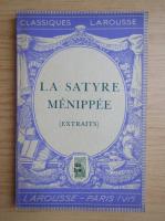Anticariat: Jules Hasselmann - La satyre menippee (1941)