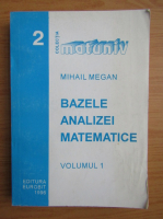 Anticariat: Mihail Megan - Bazele analizei matematice (volumul 1)