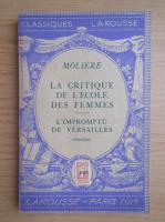 Anticariat: Moliere - La critique de l'ecole des femmes (1946)