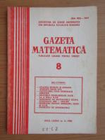 Anticariat: Revista Gazeta Matematica, anul LXXXV, nr. 8, 1980
