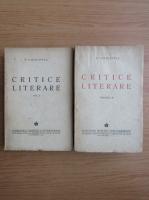 Anticariat: D. Caracostea - Critice literare (2 volume, 1943)