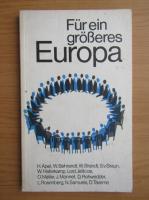 Anticariat: Fur ein grosseres Europa
