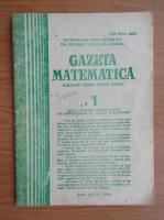 Gazeta Matematica, anul XCI, nr. 1, 1986