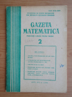 Anticariat: Gazeta Matematica, anul XCI, nr. 2, 1986