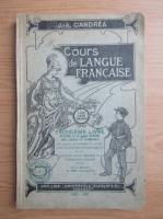 Anticariat: J. A. Candrea - Cours de langue francaise (volumul 3, 1930)
