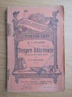 Anticariat: M. T. Cicerone - Despre batranete (1946)