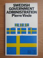 Anticariat: Pierre Vinde - Swedish government administration