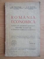Anticariat: Al. Hallunga - Romania economica. Notiuni de geografie economica pentru clasa a III-a (1935)