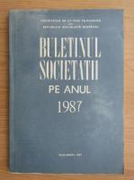 Anticariat: Buletinul societatii pe anul 1987