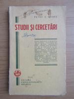 Anticariat: Petre V. Hanes - Studii si cercetari (1928)