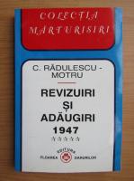Constantin Radulescu Motru - Revizuiri si adaugiri 1947 (volumul 5)