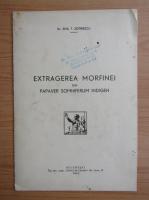 Anticariat: Emil T. Sotirescu - Extragerea morfinei din papaver somniferum indigen (1942)