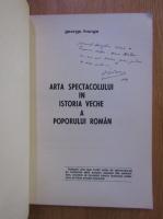 George Franga - Contributii la istoria teatrului romanesc in texte si documente (cu autograful si dedicatia autorului)