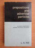 L. A. Hill - Prepositions and adverbial particles