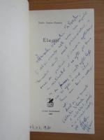 Radu Anton Roman - Elegii (cu autograful si dedicatia autorului)