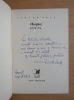 Anticariat: Teodor Bals - Noaptea corridei (cu autograful si dedicatia autorului)