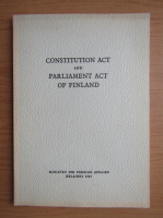 Anticariat: Constitution act and parliament act of Finland