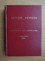 Anticariat: Enver Hoxha - Discours et articles