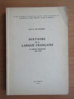 Anticariat: Ion Muraret - Histoire de la langue francaise