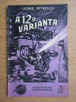 Anticariat: Leonid Petrescu - A 12 a varianta, nr. 3, 1955