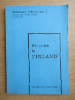 Anticariat: Matti Gustafson - Education in Finland